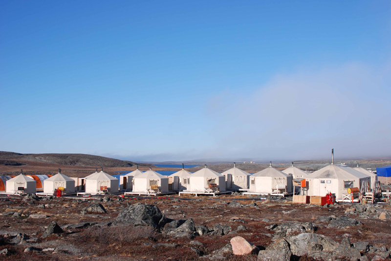 30 Person Exploration Camp In Nunavut Territory Canada