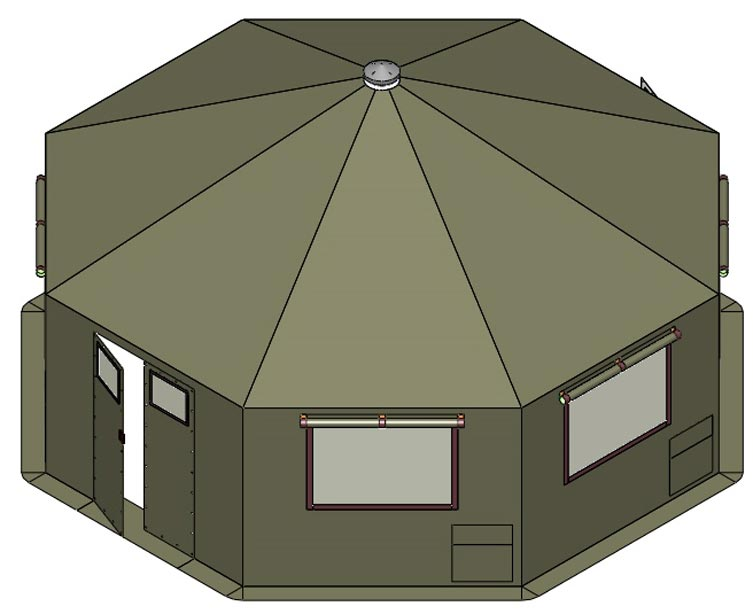 Military MH Series Shelter At 26 SQM