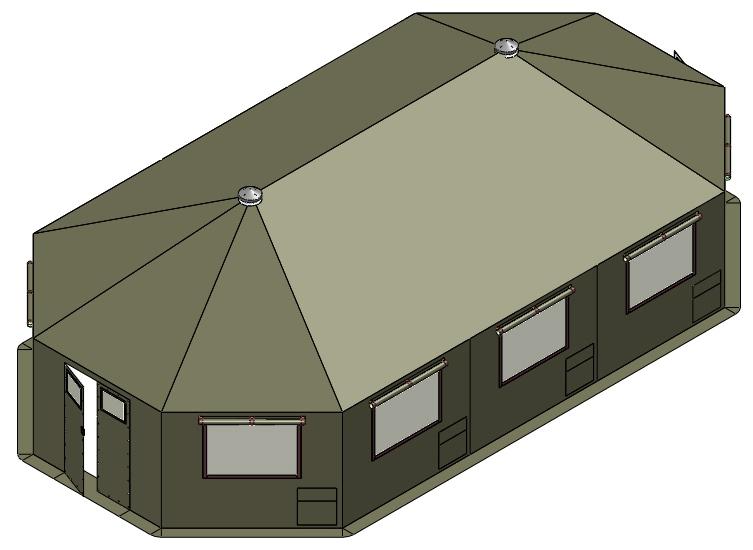 Military MLH Series Shelter at 52 SQM