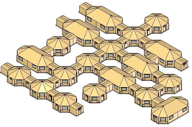 Sample Design Shelter Interconnected Complex