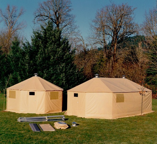 Fully Assembled H or LH Series Shelter Systems from Design Shelter